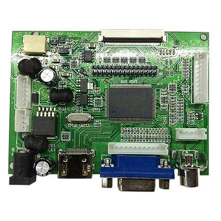 wildlead LCD Controlador de tarjeta HDMI VGA AV para LVDS/TTL de la pantalla