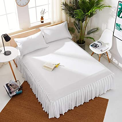 Amazon Com Pleated Fitted Sheet Top Sheets Beauty Bed Cover Bed