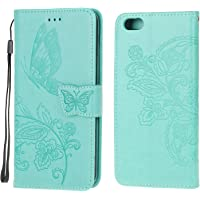 Jorisa Wallet Case Compatible with iPhone 6/iPhone 6S,Embossed Butterfly Flower PU Leather Flip Magnetic Purse Phone…