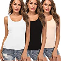 KIWI RATA Camisoles for Women with Built in Bra, Summer Sleeveless Tank Top Padded Bra Women cami for Yoga,Daily Wearing