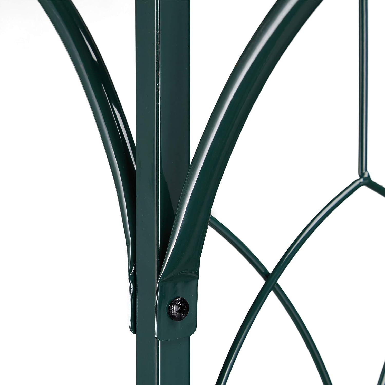 Relaxdays Pérgola metálica de jardín, Soporte para Plantas trepadoras, Resistente, 205 x 202 x 52 cm, Verde Oscuro: Amazon.es: Jardín