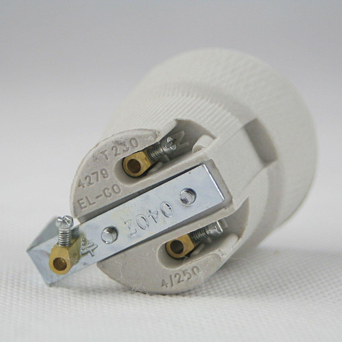 Porzellan-Fassung E27 250V/4A, Befestigungsbügel: Amazon.de: Elektronik