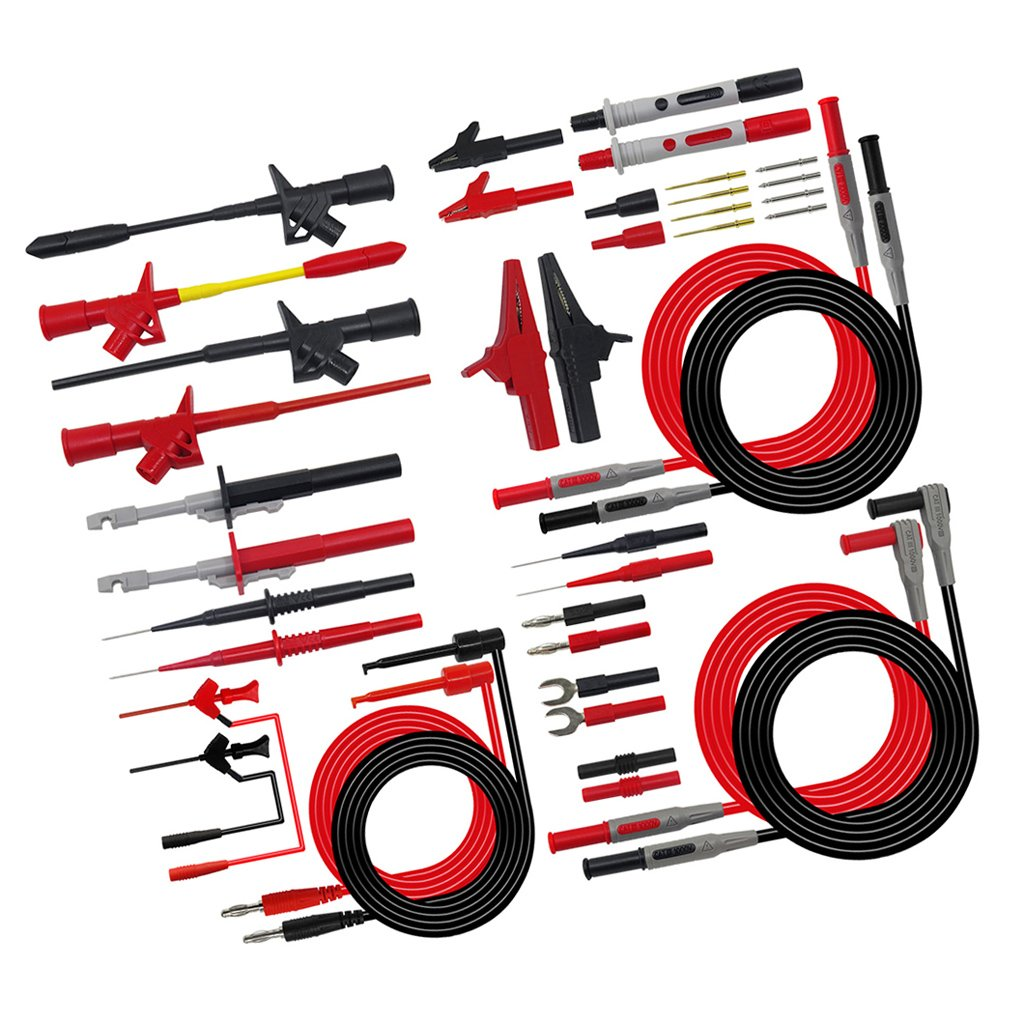 MagiDeal Multimeter 4mm Banana Plug Test Lead Kits With Test Probes Alligator Clips - P1600E by Unknown (Image #9)