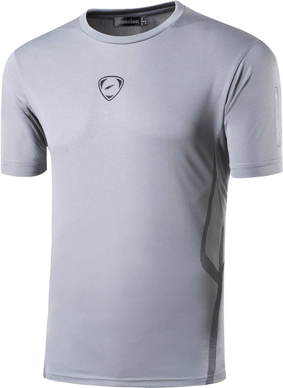 jeansian Uomo Asciugatura Rapida Sportivo Casuale Slim Sports Fashion Tee Shirt T-Shirts Maglietta Tshirt LSL010