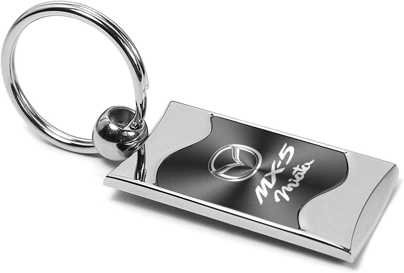 Premium Chrome Spun Wave Purple Acura A Genuine Logo Key Chain Fob Ring