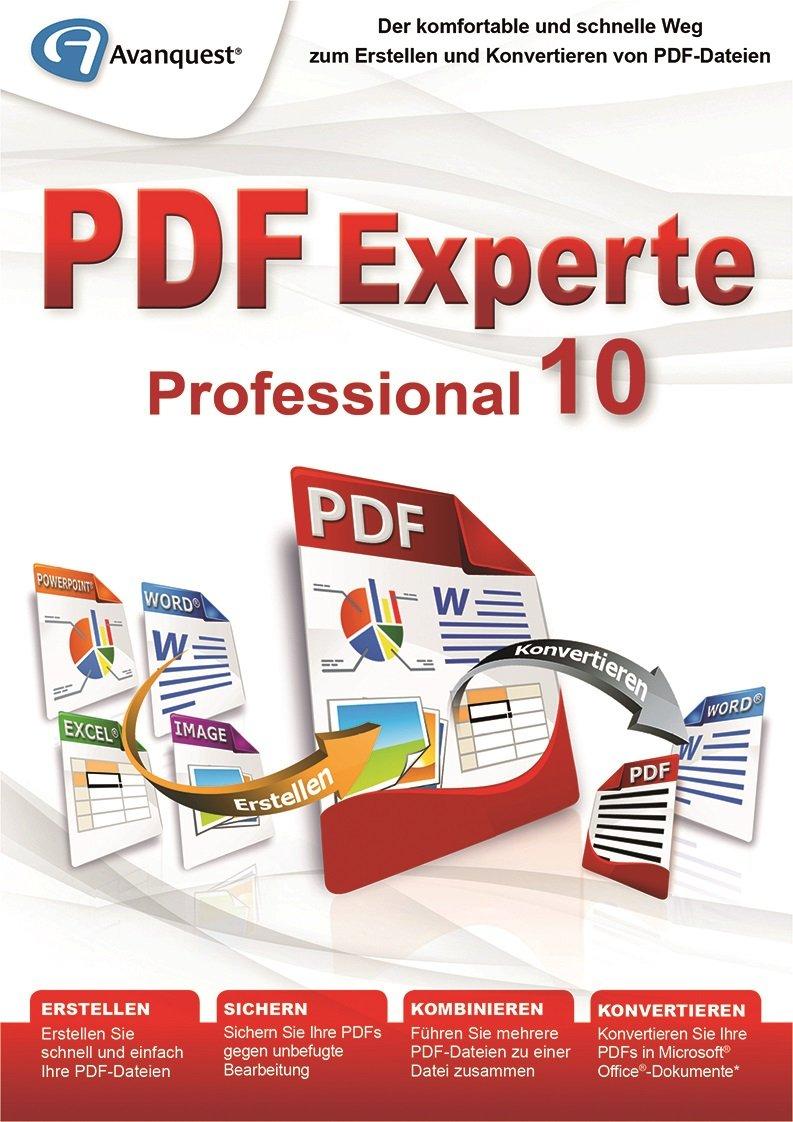 PDF Experte 10 Professional - Der komfortable und schnelle Weg zum  Erstellen und Konvertieren von PDF-Dateien - Windows 10, 8, 7, Vista, XP  [Download]: ...