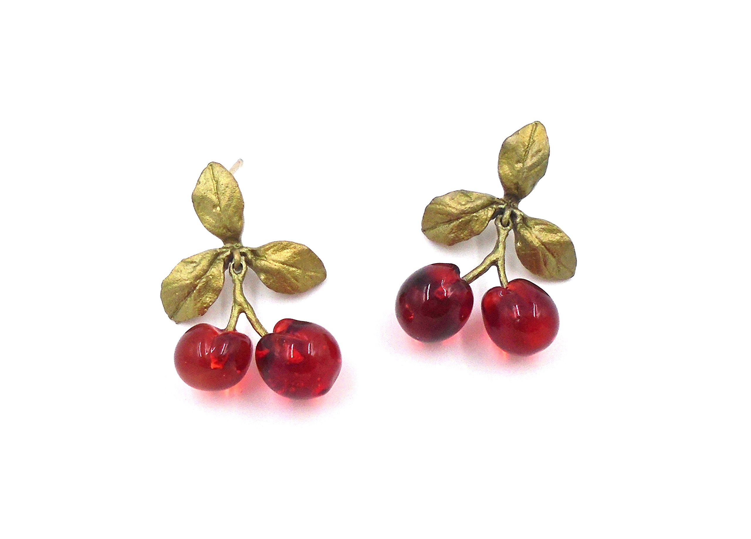 ''Morello Cherry'' Post Earrings by Michael Michaud for Silver Seasons (OURS EXCLUSIVELY)… by Michael Michaud