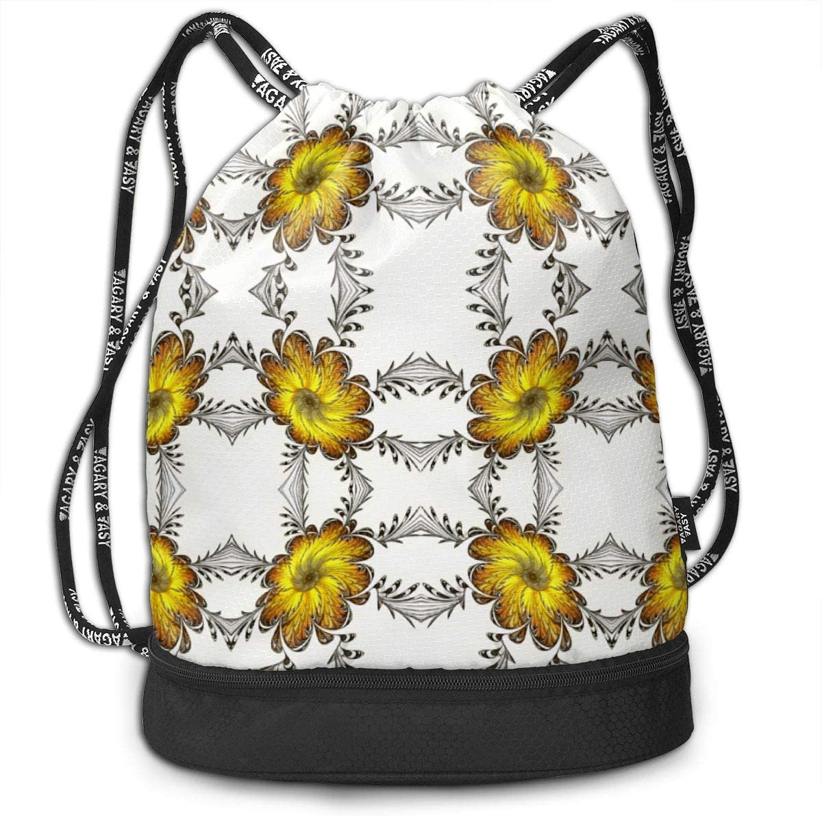 The Emperors Marigolds Drawstring Backpack Sports Athletic Gym Cinch Sack String Storage Bags for Hiking Travel Beach