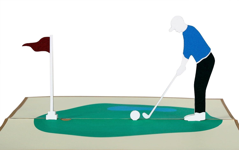 Vierge à l/'intérieur anniversaire etc Carte de Vœux-Golf Golfeurs