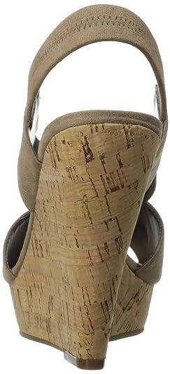 Sandalia de cu?a Moneta para mujer, Taupe Suave, 8.5 M US