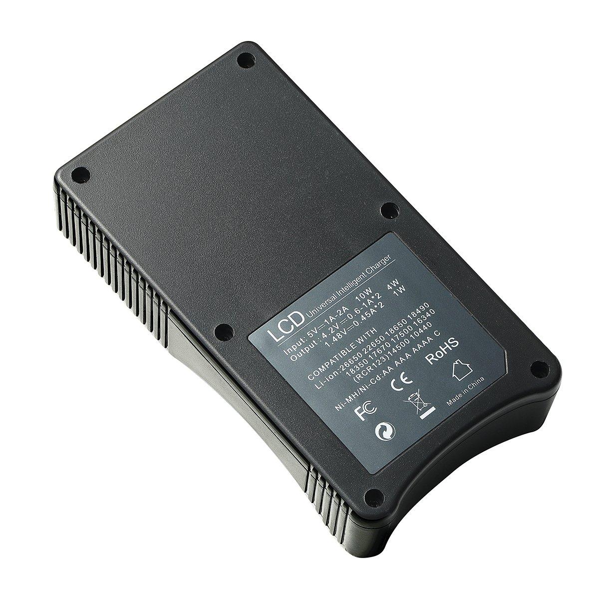 Universal cargador de batería, pantalla LCD inteligente para ...