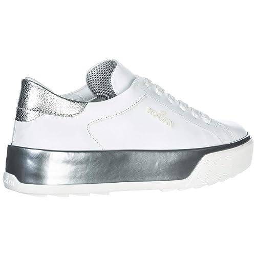 Hogan Sneakers R320 Donna Argento Bianco 39 EU: Amazon.it