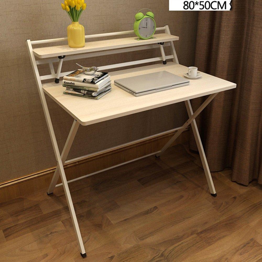 LJHA zhuozi 折りたたみテーブルの設置は無料です。シンプルな家庭用デスクトップコンピュータデスクノートブックデスク簡易デスクデスク(5色オプション)(80×50cm) (色 : F f)  F f B07KFWYNDL