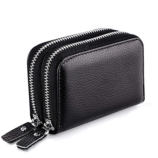 Luggage & Bags Brand Designer Genuine Leather Women Wallet Double Zipper Card Holder High Quality Female Wallets Ladies Purse Beautiful In Colour Wallets