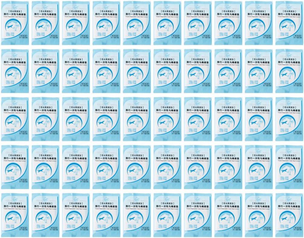 KINTRADE 50Pieces Cubierta de Asiento de Inodoro desechable Impermeable Antimicrobial Paper Mat Pad