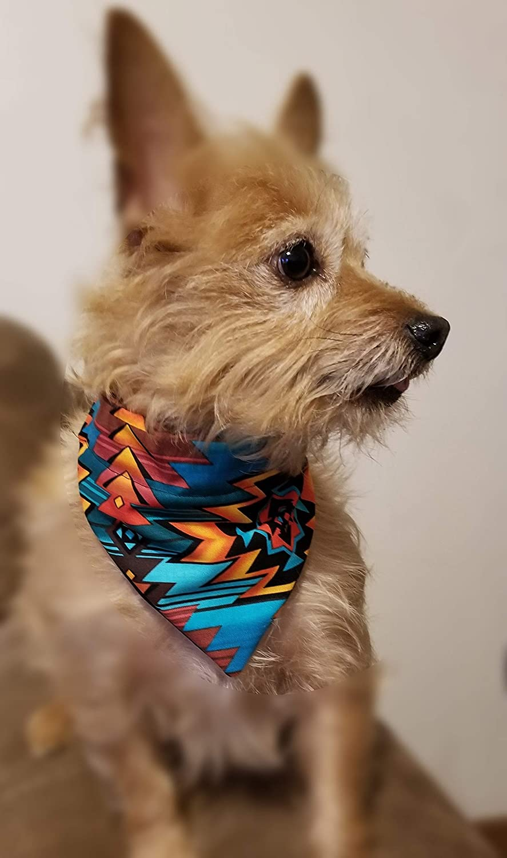 Floral Bursts Over the Collar Dog Bandana Extra Large
