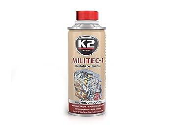 sintético K2 Militec de 1 ölzusatz motorölzusatz aceite adicional Motor - 250 ml öladditiv metal veredelungs Medio desgaste Protección Metal flotador de ...