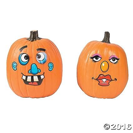 Amazoncom Paper Goofy Jack O Lantern Face Stickers Toys Games