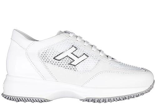 HOGAN scarpe donna interactive H flock HXW00N03242BWQB001 bianco