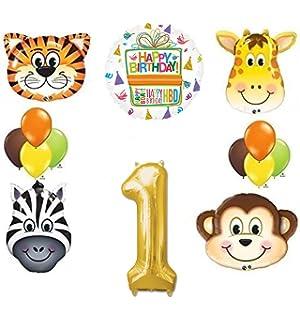 120117 Amscan One Wild Girl 1st Birthday Banner TradeMart Inc