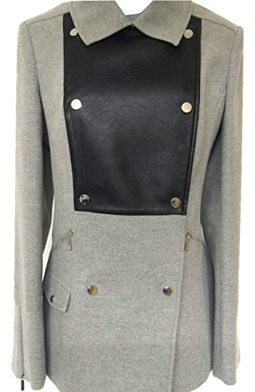 retail prices new product full range of specifications Karen Millen Signature Moleskin Coat Grey/Black