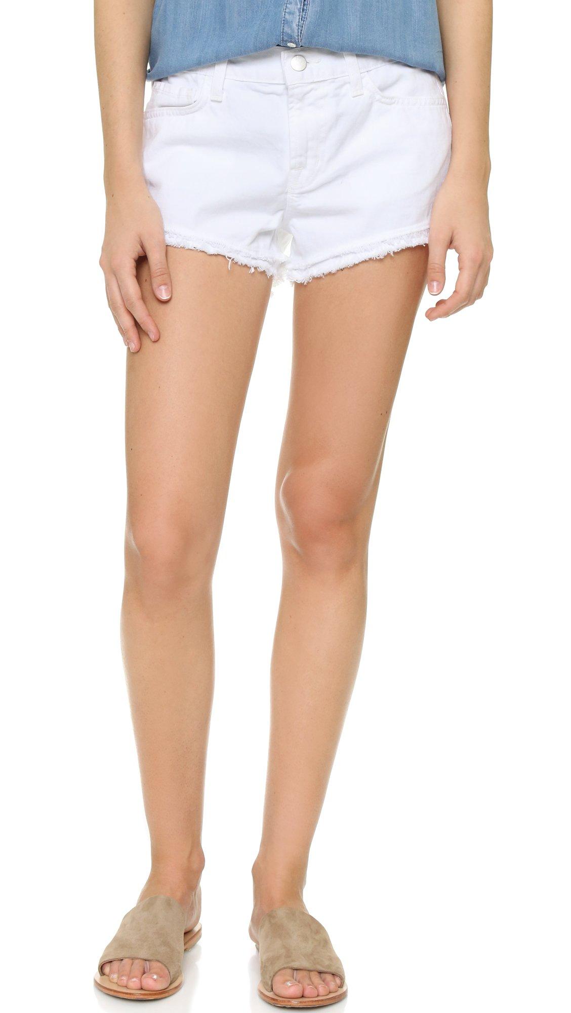 J Brand Women's Sachi Cut Off Shorts, White, 27