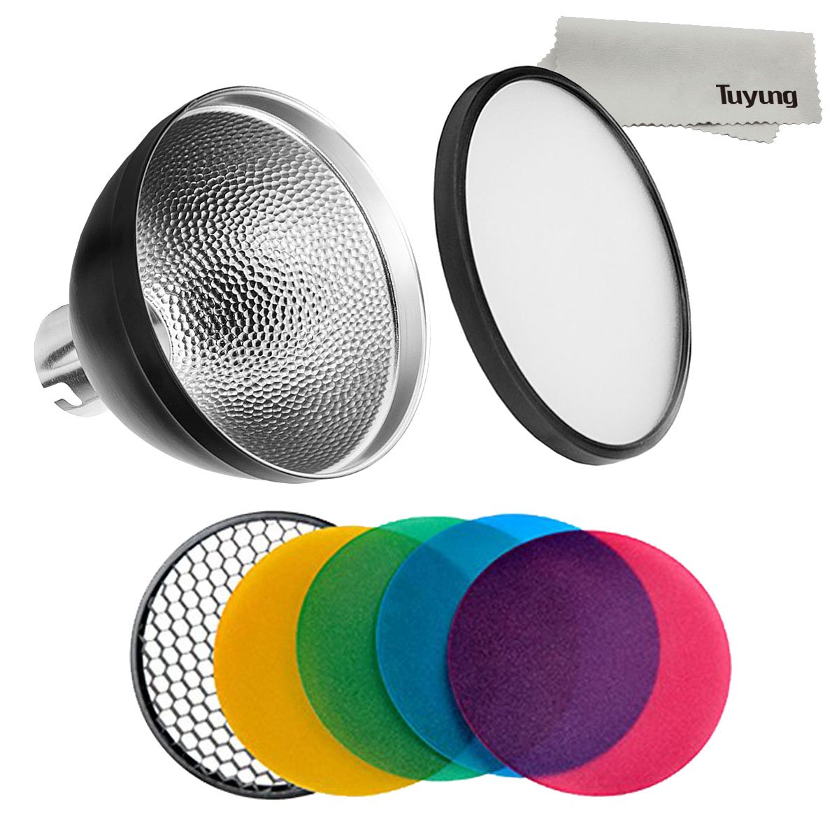 Godox AD-S2 Standard Reflector with Soft Diffuser and ad-s11 Witstro Flash Speedlite Accessories for Godox AD200 AD360 AD360II Flashes ADS2+ADS11