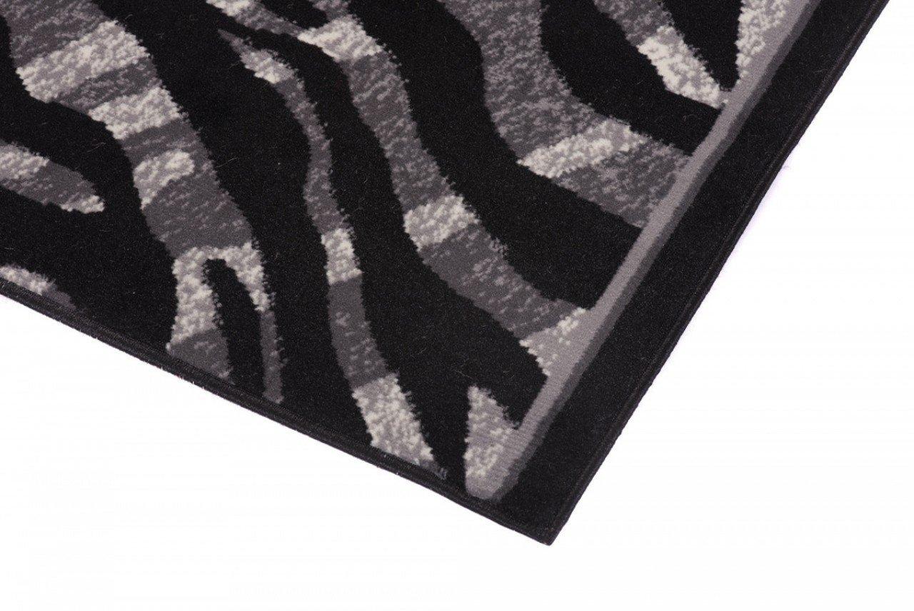 Couleur Gris Noir Motif Peau Des Animaux Tapis De Couloir Moderne Collection Fiesta La Meilleure Qualit/é Diff/érentes Dimensions S-XXXL 70 x 300 cm