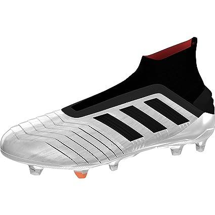 adidas Predator 19+ FG, Bota de fútbol, Silver Metallic Core