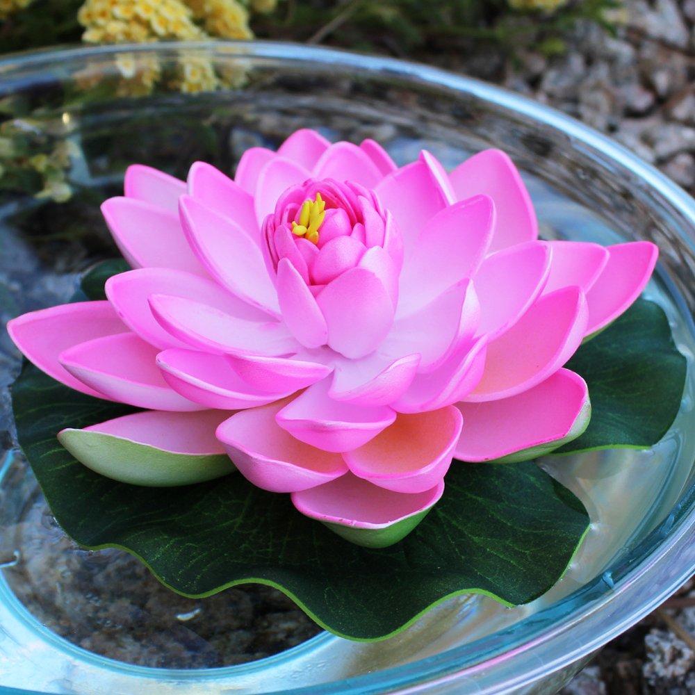 Amazon Just Artifacts 5pc Foam Lotus Floating Water Flower