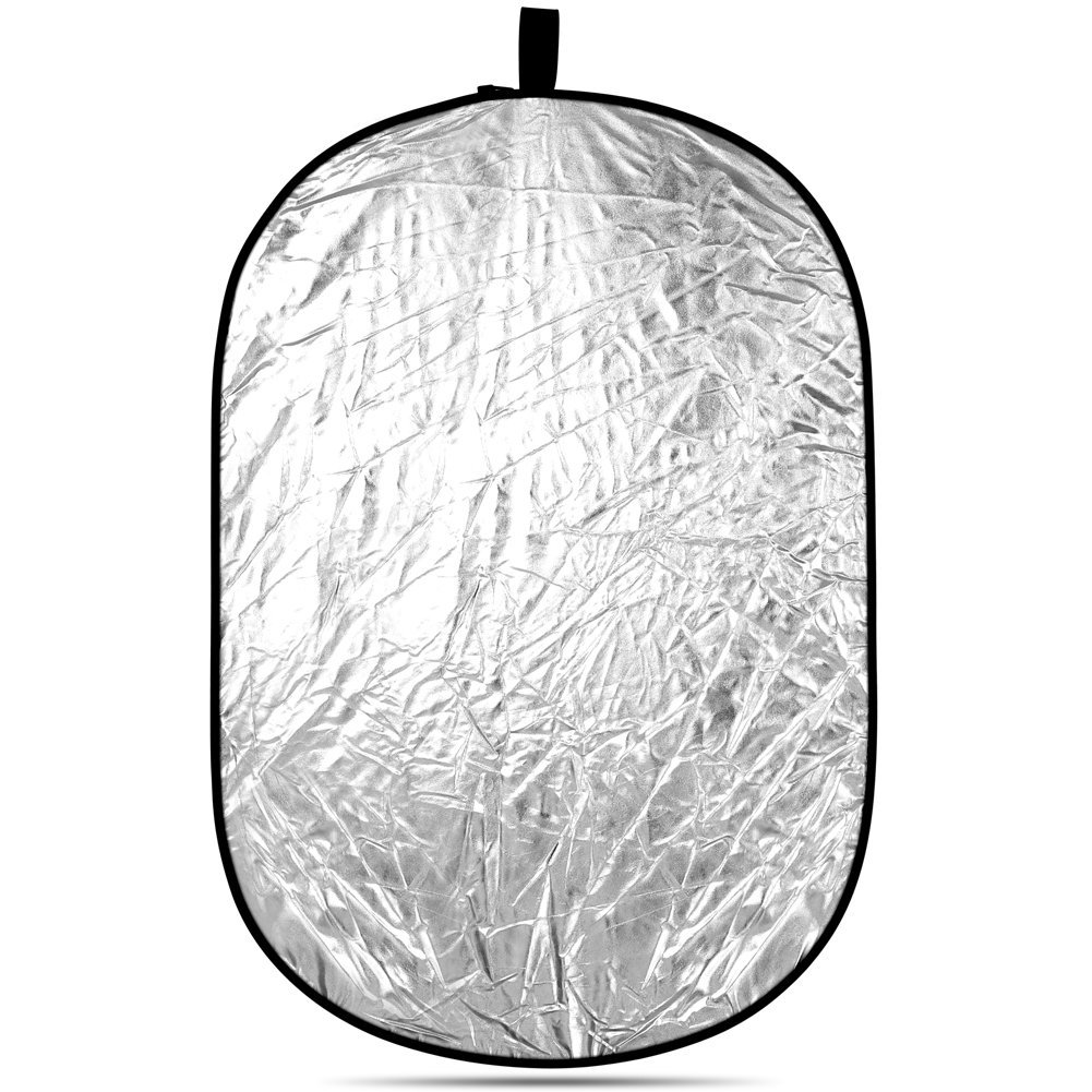 Neewer Portable 5 in 1 120x180cm/47''x71'' Translucent, Silver, Gold, White, and Black Collapsible Round Multi Disc Light Reflector for Studio or any Photography Situation by Neewer