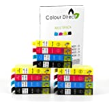 Colour Direct Lot de 12 cartouches d'encre compatibles Remplacement pour Epson WorkForce WF-2010 W, WF-2510WF, WF-2520NF, WF-2530WF, WF-2540WF/wf-2630wf/WF-2650DWF/wf-2660dwf Imprimantes 16 x l