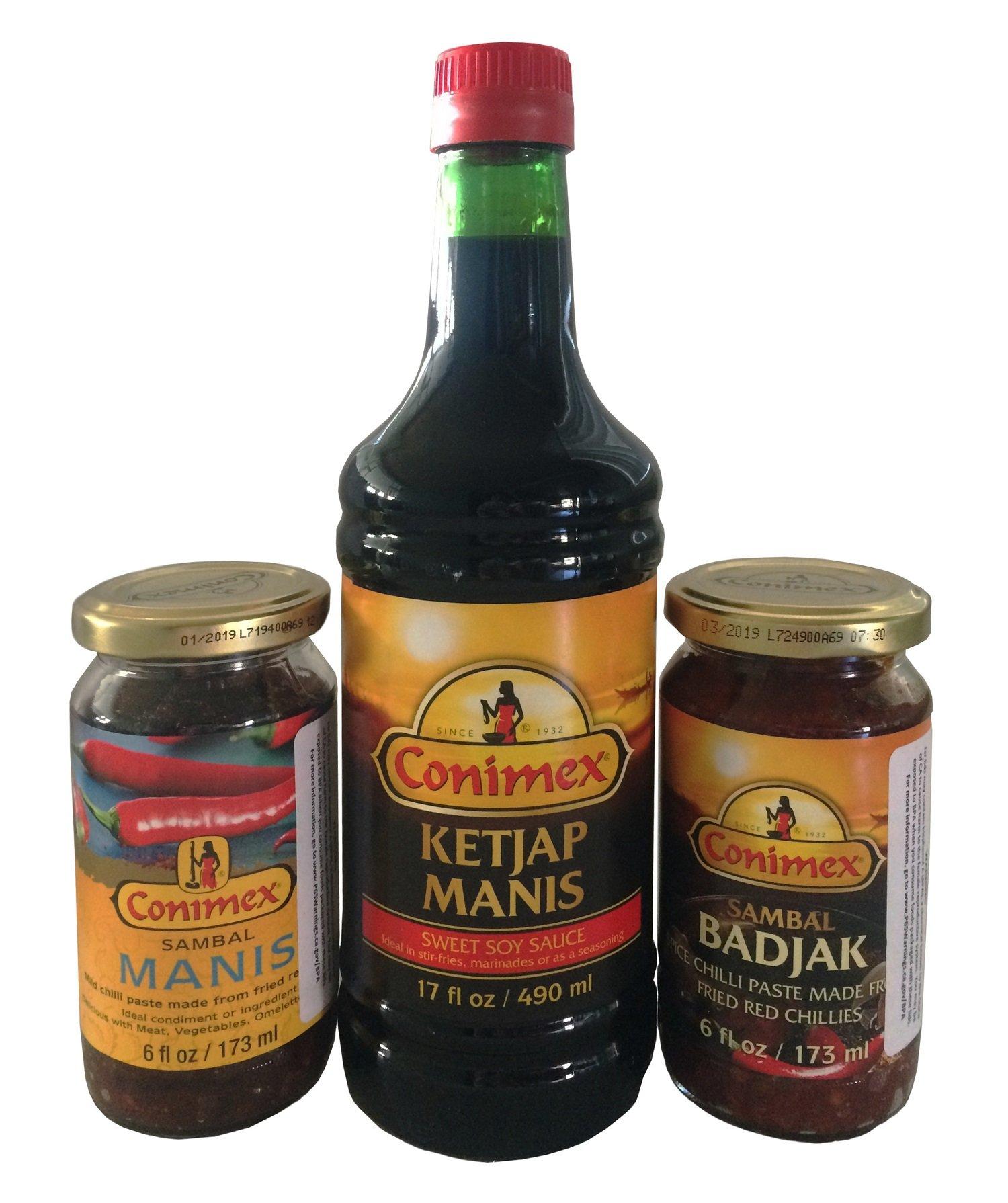 Conimex Products Variety - Conimex Ketjap Manis, Conimex Sambal Manis and Conimex Sambal Badjak by World Food Mission