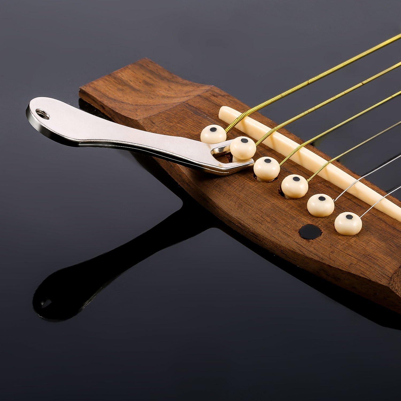 Gitarrenbrückenstifte Sattelmutter Akustisches Gitarrenzubehör mit Pin Puller/_G