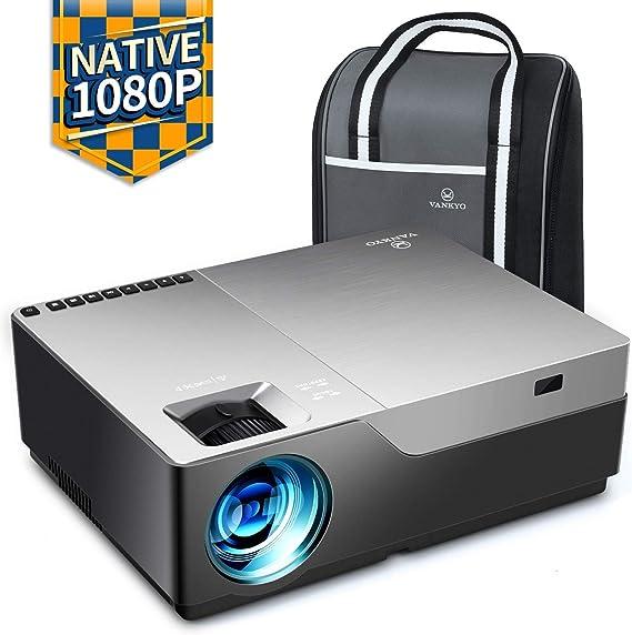 Videoprojecteur, Vankyo 6500 Lumens Rétroprojecteur 1920x1080P Full HD Mini Video Projecteur Portable Son Dolby Stereo, HDMI VGA AV USB pour Home Cinéma& Présentation PPT
