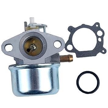 Salvador carburador Carb Para 497586 Briggs & Stratton 499059 494217 con junta sello Choke Carby cortacésped