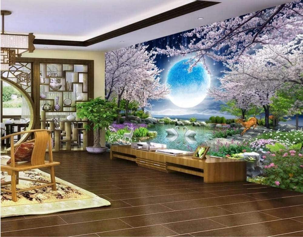WORINA Blue Sky White Cloud Wallpaper Lago Mural de pared Paisaje para sala de estar TV Fondo Papel de pared Mural Personalizado, 250x175 cm (98.4 by 68.9 in): Amazon.es: Bricolaje y herramientas
