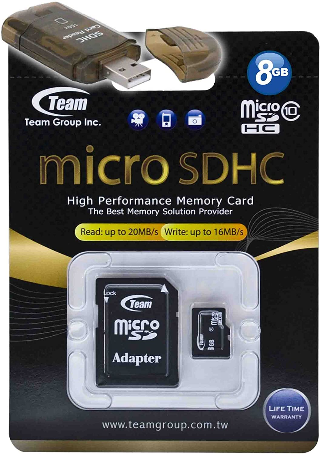 Comes with. 16GB Class 10 MicroSDHC Team High Speed 20MB//Sec Memory Card A free High Speed USB Adapter is included Blazing Fast Card For LG GLIMMER AX830 AX565 phone