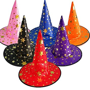 e00fa949fb0 Face Like 6 Colors Witch Hats Halloween Party Supplies Kids Children Adults Hat  Costume Accessories