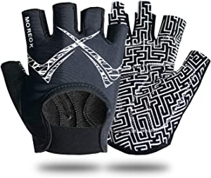 Cycling Gloves, Best Workout Gloves for Men and Women, Dumbells, Kettlebells, Bicycle, Battle Ropes and More (Black, Small)
