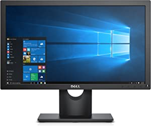 "Dell E1916HV VESA Mountable 19"" Screen LED-Lit Monitor,Black"