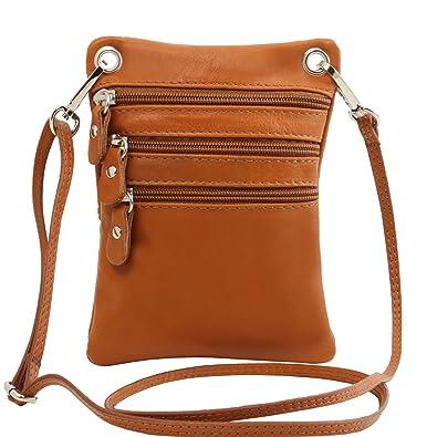 TL Bag - Sac bandoulière mixte en cuir souple - Beige Tuscany Leather L1qSIEwqS
