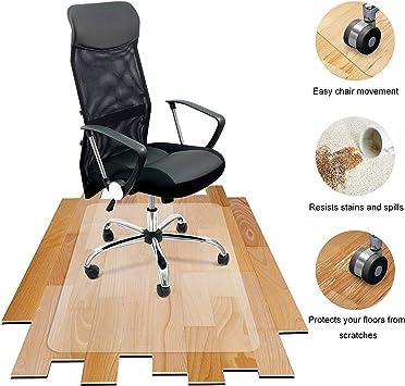 Office Chair Mat for Hardwood Floor Computer Desk Swivel Chairs PVC Dull Polish