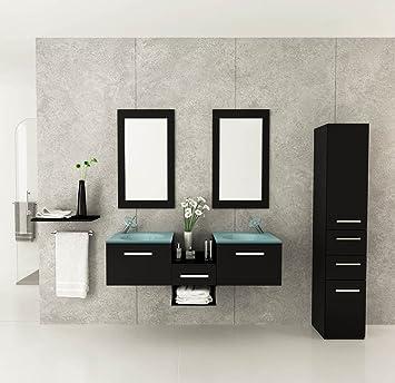 58u0026quot; Estrella Double Vessel Sink Modern Bathroom Vanity Furniture Set