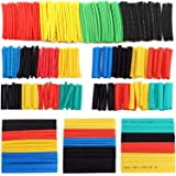 328ピースセット熱収縮チューブ 絶縁チューブ 防水 高難燃性 チューブ シュリンクチューブ 5色 8サイズ (328個)