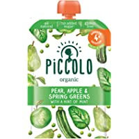 Piccolo Spring Greens Pear & Apple with Mint, Green, Small, 100g
