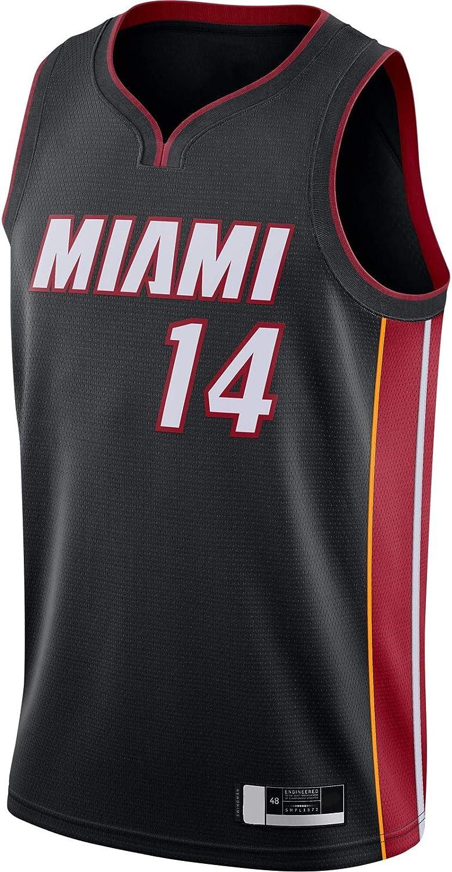 Miami manica corta Calore T-Shirt #14 2020//21 Swingman Jersey Icon Edition GUYAQ Traning Jersey Tyler Basketball Jersey Herro Black
