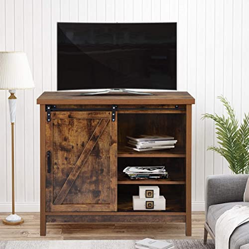Farmhouse Wood TV Stand - the best modern tv stand for the money