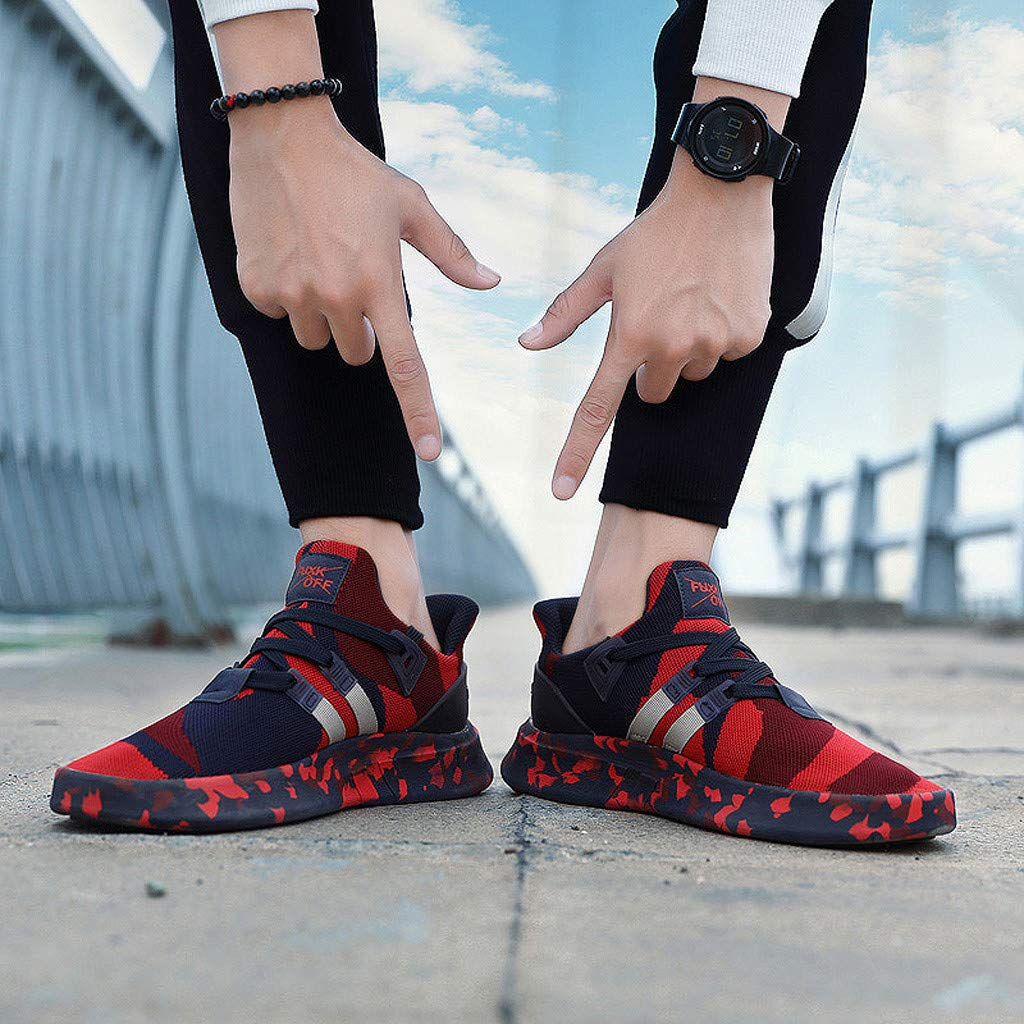 lkoezi Men Breathable Sneakers Male Fashion Outdoor Shoes Lightweight Camouflage Versatile Sports Shoes Casual Running Shoes