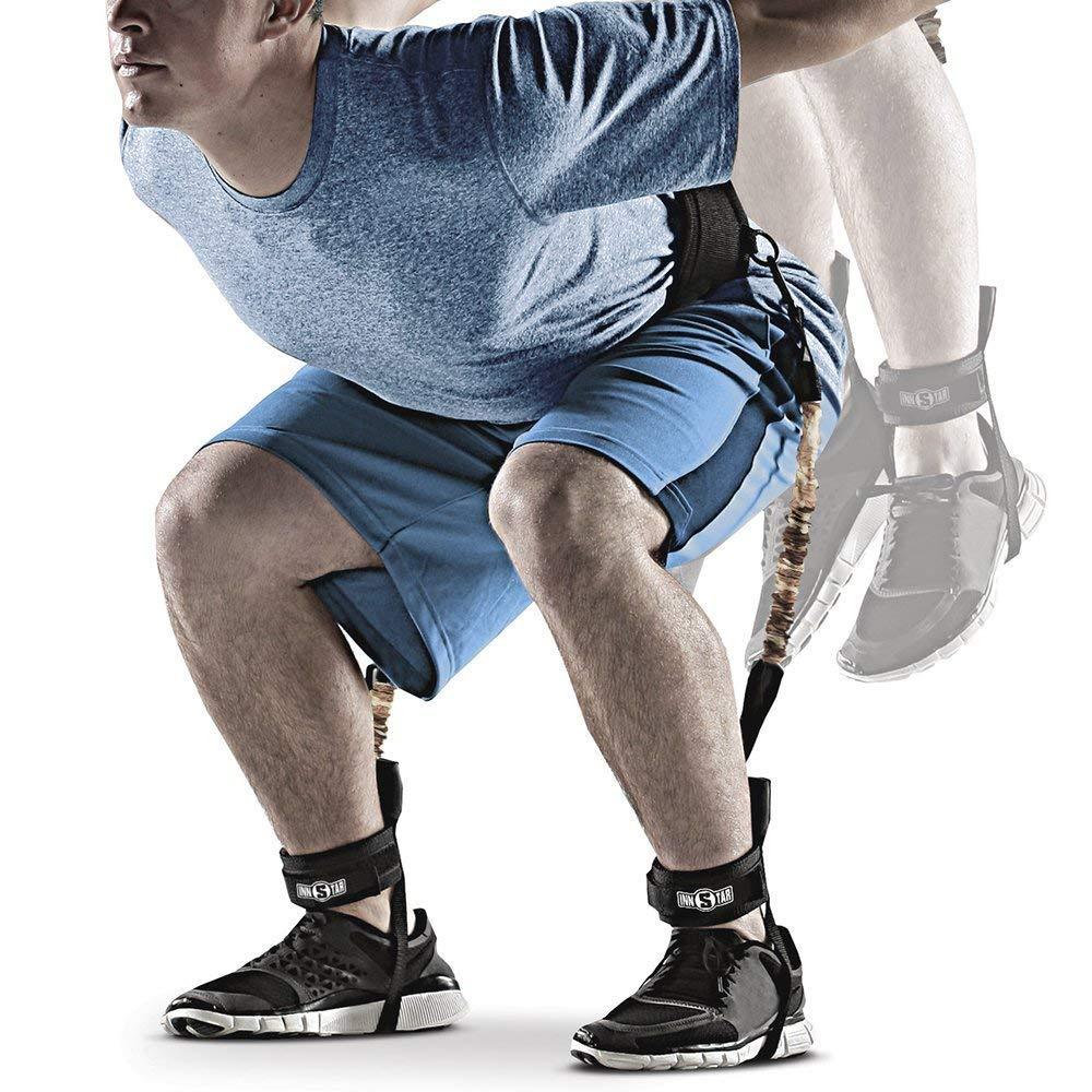 Vertical Jump Trainer Bounce Trainer Leg Strength Trainer Leg Resistance Training Bands Set Basketball Football Volleyball Tennis Training Improving Lower Limbs Explosiveness